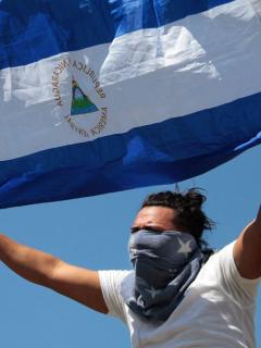 Protestante en Nicaragua