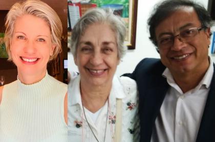 Claudia Gurisatti, Tulia Mercedes Barreto y Gustavo Petro