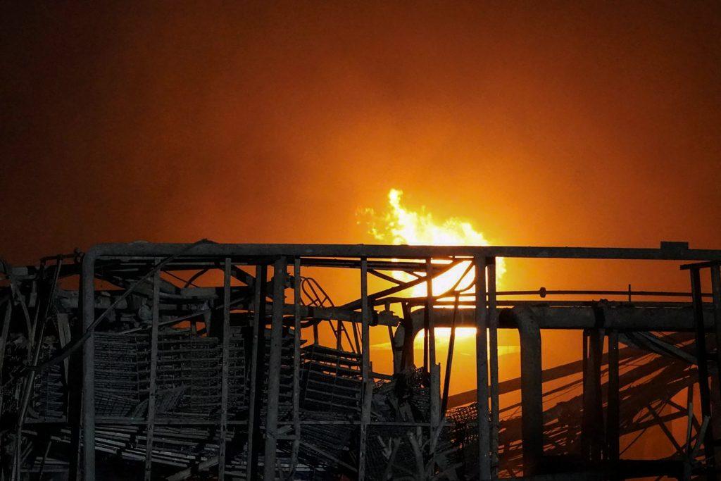 Fuego en la planta química de Yancheng