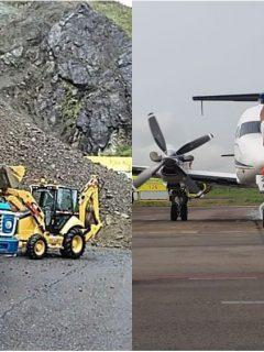 Deslizamiento y Aeropuerto