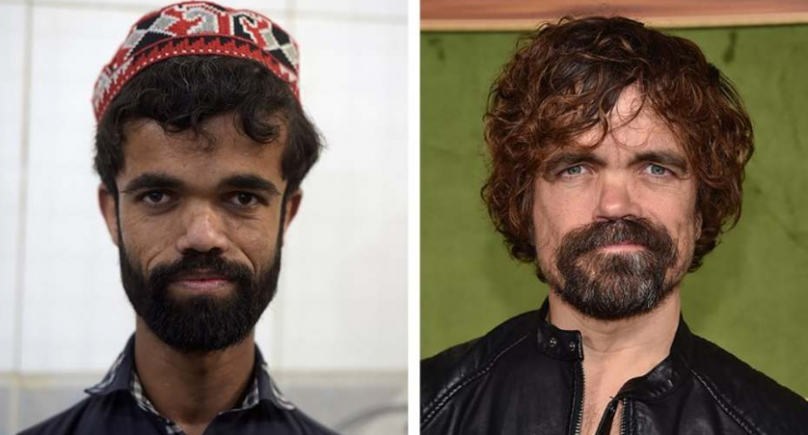 Mesero parecido a actor de 'Game of Thrones'.