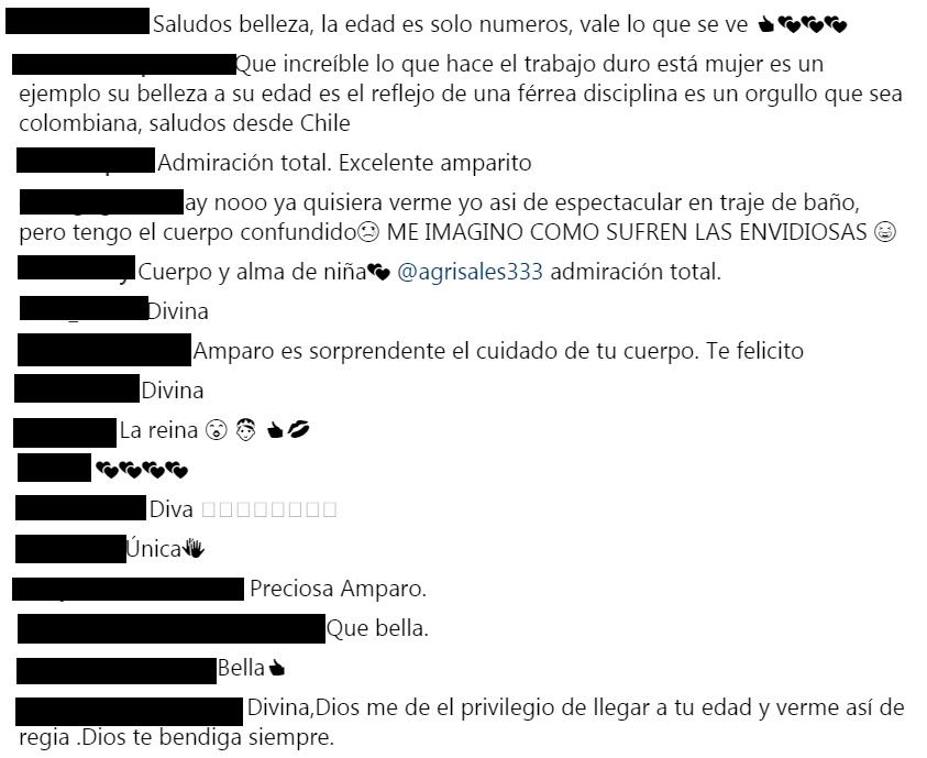 Comentarios a foto de Amparo Grisales