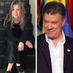 Vicky Dávila, Juan Manuel Santos y Esteban Santos