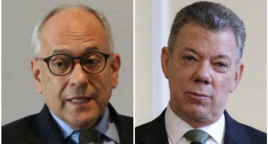 José Obdulio Gaviria y Juan Manuel Santos