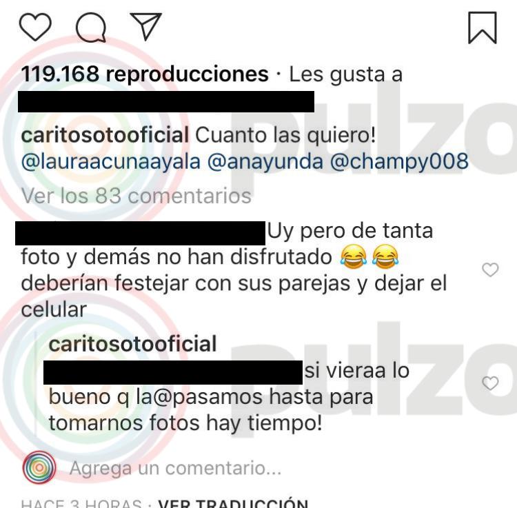 Respuesta de Carolina Soto a fan