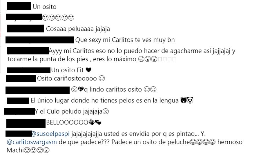 Comentarios de seguidores a foto de Carlos Vargas