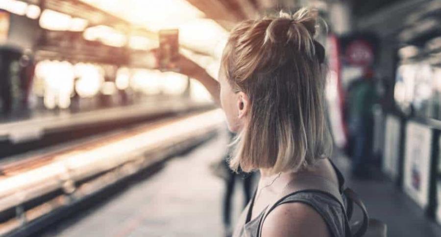 Selfi en estación de tren.