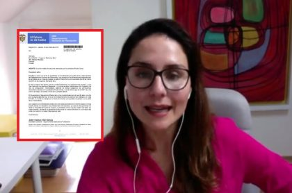 Paola Ochoa y carta del Departamento Nacional de Planeación