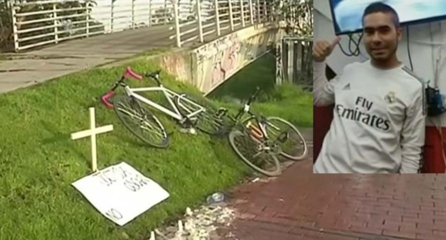 Ciclista asesinado en Bogotá.