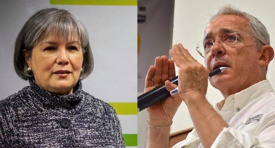 Patricia Linares y Álvaro Uribe