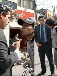 Ciclista insulta a periodista de City TV