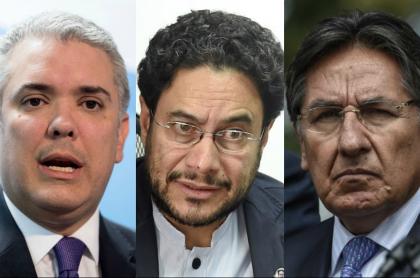 Iván Duque, Iván Cepeda y Néstor Humberto Martínez