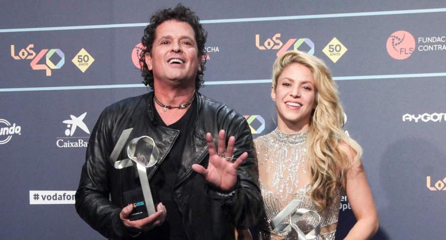 Carlos Vives y Shakira, cantantes.