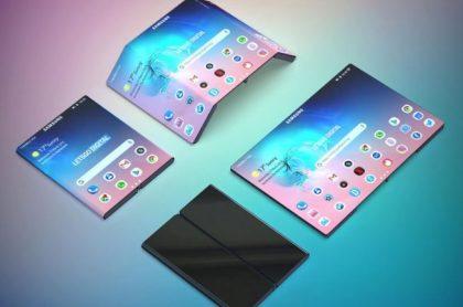 Diseño de como sería en segundo plegable de Samsung