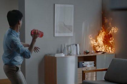 Jarrón que apaga incendios