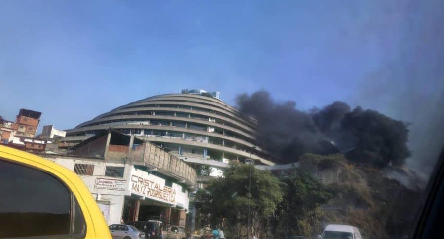 Incendio en Caracas