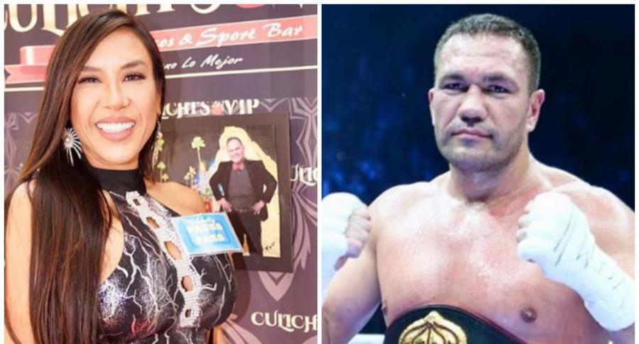 Periodista a la que boxeador le robó beso.
