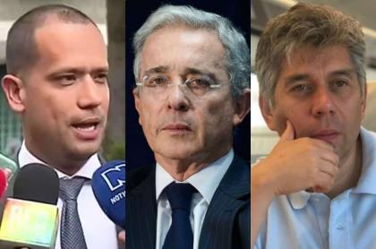 Diego Cadena, Álvaro Uribe y Daniel Coronell