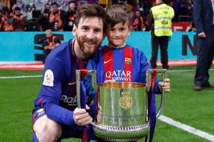 Lionel Messi y su hijo