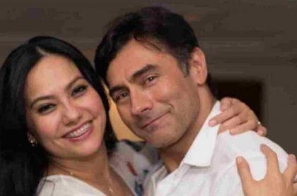 Mauro Urquijo, actor, y su exesposa Haychelt Benito