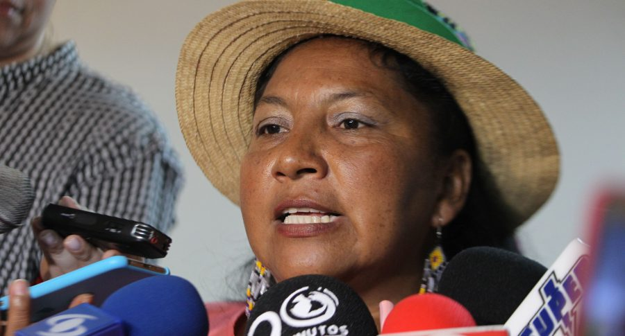Ana Deida Secué, vocera de la Minga Indígena.
