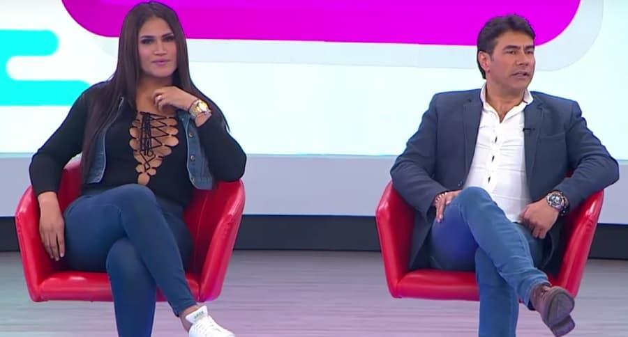 Mauro Urquijo y su novia transexual