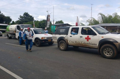 Caravana recursos al Cauca