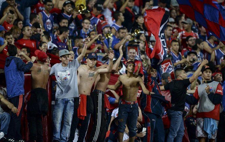 Hinchas del Independiente Medellín.