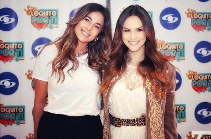 Carla Giraldo y Danielle Arciniegas, actrices.
