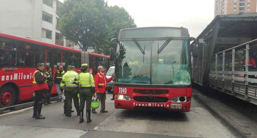 Accidente en Transmilenio
