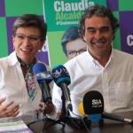 Claudia López y Sergio Fajardo
