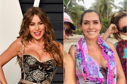 Sofía Vergara, actriz, y Mónica Rodríguez, presentadora.