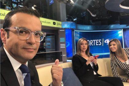 Juan Diego Alvira, Catalina Gómez y Ana María Navarrete, presentadores.
