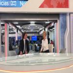 Hassan Nassar, expresentador de RCN, y Claudia Gurisatti, directora y conductora del noticiero.