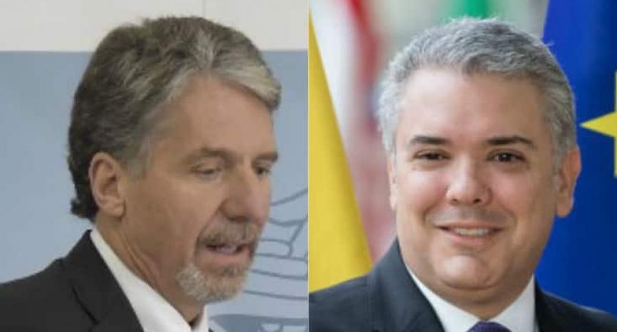 Kevin Whitaker e Iván Duque