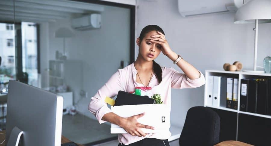 Mujer desempleada.