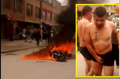 Intentaron linchar a presuntos ladrones en Bogotá