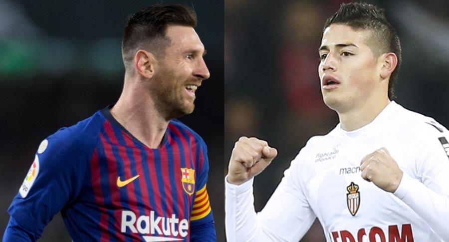 Lionel Messi y James Rodríguez