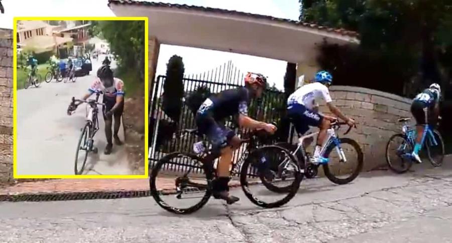 Ciclistas en el Pionono