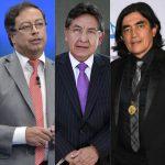 Gustavo Petro, Néstor Humberto Martínez y Gustavo Bolívar