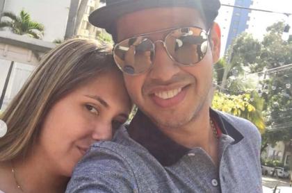 Martín Elías, cantante (Q.E.P.D.), y su esposa Dayana Jaimes.