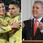 James Rodríguez, Radamel Falcao e Iván Duque