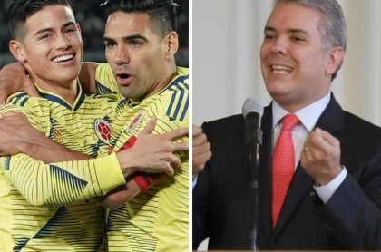 James Rodríguez, Radamel Falcao e Iván Duque