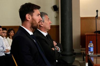 Lionel Messi y su papá
