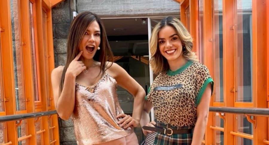 Shirley Gómez y Elianis Garrido, presentadoras y exprotagonistas de novelas.