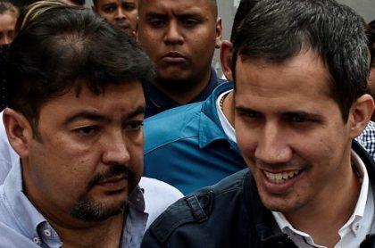 Roberto Marrero y Juan Guaidó