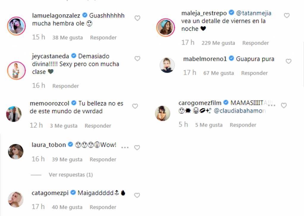 Comentarios a foto de Claudia Bahamón