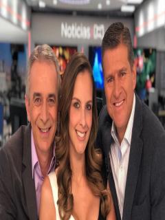 Juan Eduardo Jaramillo, Laura Acuña y Ricardo Henao, presentadores.