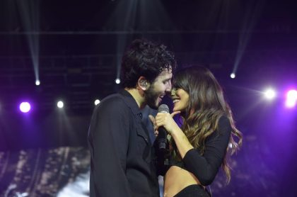 Sebastián Yatra y Tini, cantantes.