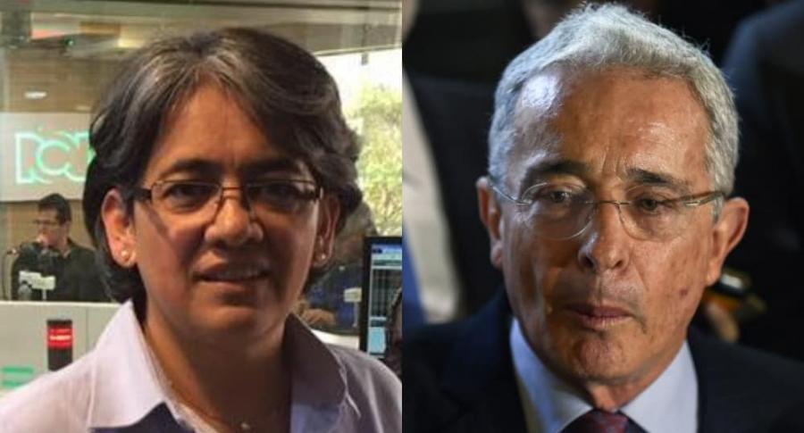 Yolanda Ruiz y Álvaro Uribe.